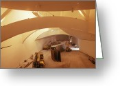 Guggenheim Museum Greeting Cards - Guggenheim Museum Interior Greeting Card by Carlos Dominguez