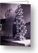 Urbano Greeting Cards - Guggenheim with bubbles Greeting Card by Fernando Alvarez
