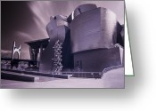 Urbano Greeting Cards - Guggenheim with ghosts Greeting Card by Fernando Alvarez