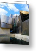 Guggenheim Museum Greeting Cards - Guggenhiem 2 Bilboa Spain Greeting Card by Paul Basile
