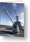 Guided Missile Destroyers Greeting Cards - Guided-missile Destroyer Uss Jason Greeting Card by Stocktrek Images