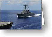 Guided Missile Destroyers Greeting Cards - Guided-missile Destroyer Uss Preble Greeting Card by Stocktrek Images