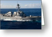 Guided Missile Destroyers Greeting Cards - Guided-missile Destroyer Uss Wayne E Greeting Card by Stocktrek Images