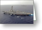 Guided Missile Destroyers Greeting Cards - Guided Missile Destroyers Uss Dewey Greeting Card by Stocktrek Images