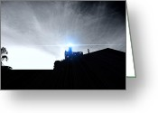 Alcatraz Light House Greeting Cards - Guiding Light-Alcatraz Greeting Card by Douglas Barnard
