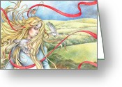 King Arthur Greeting Cards - Guinevere Greeting Card by Johanna Pieterman