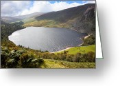 Winding Road Greeting Cards - Guinness Lake in Wicklow Mountains  Ireland Greeting Card by Semmick Photo