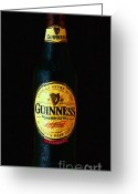 Imports Greeting Cards - Guinness Greeting Card by Wingsdomain Art and Photography