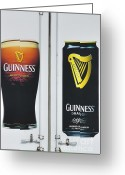 Stout Greeting Cards - Guiny Stout to the Irish Greeting Card by David Bearden