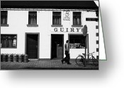 Ireland Greeting Cards - Guirys Irish Pub Foxford County Mayo Ireland Greeting Card by Joe Fox