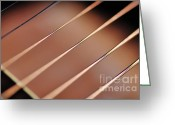 String Instrument Greeting Cards - Guitar Abstract 2 Greeting Card by Kaye Menner