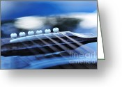 String Instrument Greeting Cards - Guitar Abstract 4 Greeting Card by Kaye Menner