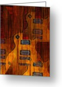 Rock And Roll Greeting Cards - Guitar Army Greeting Card by Bill Cannon