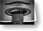Orchestra Greeting Cards - Guitar close up Greeting Card by Svetlana Sewell