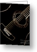 Vibe Greeting Cards - Guitar Greeting Card by Pete Klimek