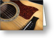 Taylor Guitar Greeting Cards - Guitar Greeting Card by Steve Shockley