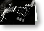 Player Photo Greeting Cards - Guitarist Greeting Card by Stylianos Kleanthous