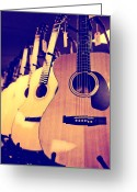 Taylor Guitar Greeting Cards - Guitars for Sale Greeting Card by Susan Stone