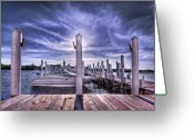 Boat Greeting Cards - Gulf Coast Blues Greeting Card by Evelina Kremsdorf