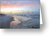 Seafoam Greeting Cards - Gulf Shore Greeting Card by Kristin Elmquist
