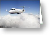 Force Greeting Cards - Gulfstream G-450 Greeting Card by Larry McManus