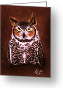 Great Painting Greeting Cards - Gullie Greeting Card by Adele Moscaritolo