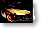 Transportation Digital Art Greeting Cards - Gullwing Greeting Card by Wingsdomain Art and Photography