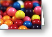 Kitchen Photos Greeting Cards - Gumballs Greeting Card by John Rizzuto