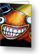 Fantasy Creatures Painting Greeting Cards - Gummy Stage Glob Greeting Card by Leanne Wilkes