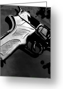 Mystery Digital Art Greeting Cards - Gun number 1 Greeting Card by Giuseppe Cristiano