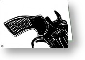 Pulp Greeting Cards - Gun number 2 Greeting Card by Giuseppe Cristiano