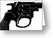 Pulp Greeting Cards - Gun number 3 Greeting Card by Giuseppe Cristiano
