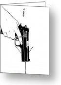 Piercing Greeting Cards - Gun number 4 Greeting Card by Giuseppe Cristiano