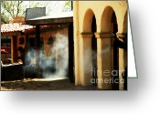 Acting Greeting Cards - Gunfights in Old Tuscon Arizona Greeting Card by Susanne Van Hulst