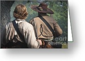Muskets Greeting Cards - Guns By Our Side We Ride Greeting Card by Kim Henderson