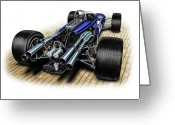 Speed Greeting Cards - Gurney Eagle F-1 Car Greeting Card by David Kyte