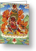 Thanka Greeting Cards - Guru Dragpo Greeting Card by Sergey Noskov