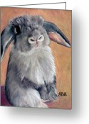 Hare Drawings Greeting Cards - Gus Greeting Card by Laura Bell