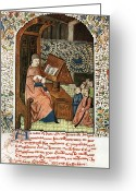1300s Greeting Cards - Guy De Chauliac, French Surgeon Greeting Card by