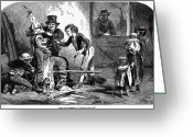 Protestant Greeting Cards - Guy Fawkes Day, 1853 Greeting Card by Granger