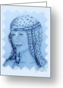 Guinevere Greeting Cards - Gwynneth as Gwenyfar Greeting Card by Rosy Hall