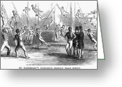Tightrope Greeting Cards - Gymnastics, 1853 Greeting Card by Granger