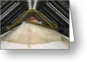 Mound Greeting Cards - Gypsum Storage At A Power Station Greeting Card by Colin Cuthbert
