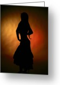 Figure Pose Greeting Cards - Gypsy Girl Greeting Card by David  Naman