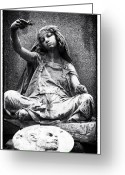 Death Head Greeting Cards - Gypsy Girl Greeting Card by John Rizzuto
