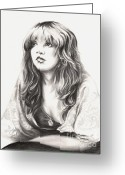 Celebrities Drawings Greeting Cards - Gypsy Greeting Card by Kathleen Kelly Thompson
