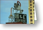 Americana Greeting Cards - H C Coffee Greeting Card by Frank Romeo