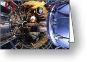 Hera Greeting Cards - H1 Particle Detector Greeting Card by David Parker