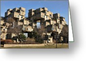 Moshe Greeting Cards - Habitat 67 Greeting Card by Robert Knight