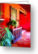 Darian Day Greeting Cards - Hacienda by Darian Day Greeting Card by Olden Mexico